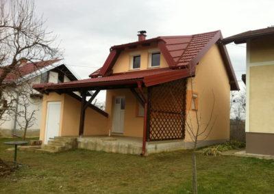 Vikend kuća – izrada krovišta i nadstrešnice